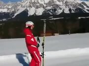 This Guy's Skiing Skills Are A Level Apart!