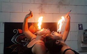 Sophia And Andrea Fire Eat