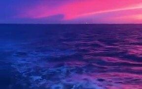 The Beautiful Lilac Sunset Of The Coast Of Oregon