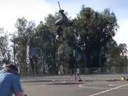 The Stuntman Crashes, Gets Back Up Like A Champ!