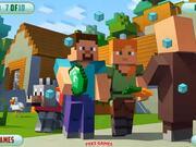 Minecraft Hidden Diamond Blocks Walkthrough
