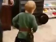 Little Boy Playing Cowboy