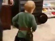 Little Boy Playing Cowboy