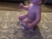Baby Naturally Talented At Bottle Flip