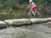 Kid Displaying Amazing Mountain Biking Skill