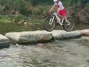 Kid Displaying Amazing Mountain Biking Skill