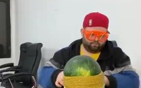 Destroying Watermelon Using Rubber Bands