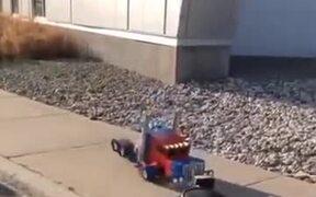 Genius Dad Made Real Transformer Costume