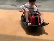 Little Boy Expert At Drifting