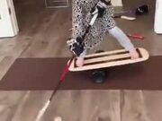 Little Girl's Hardcore Hockey Practice
