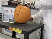 Chemistry + Halloween Carved Pumpkin