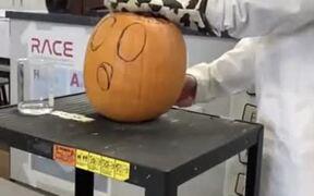 Chemistry + Halloween Carved Pumpkin