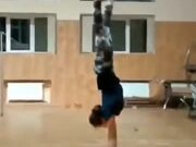 A Girl With An Amazingly Strong Spine