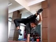 A Girl With An Insane Core Strength