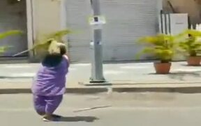 85-Year-Old Lady Performing Stunts