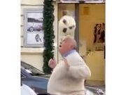 Old Man With A Ball Outside The Vatican