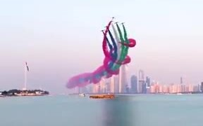Creating A Colorful Sky In Bahrain