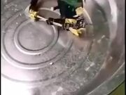 Crab Fighting A Robot