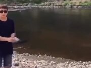 Next Level Of Rock Skipping!