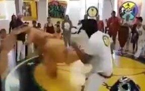 Dinosaur Fighting In A Dojo