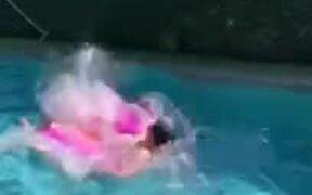 The Best Pool Jump So Far...