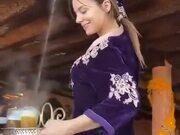 Dexterity Of A Gorgeous Female Tea Server