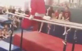 Santa Doing Gymnastic