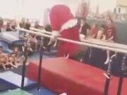 Santa Doing Gymnastic