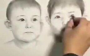 Humans Aging Displayed Using Sketching