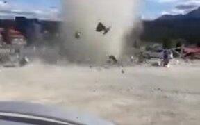 Small Cyclone Displaying Chaos
