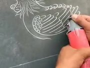 Drawing On Marble