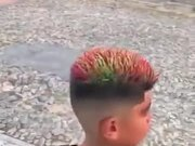 A Boy With Color-Changing Hair