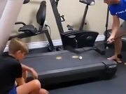 Practicing Hockey On A Treadmill