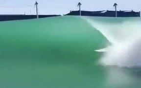 Surfer Enjoying An Artificial Wave