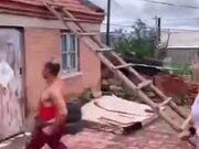 Old Asian Man Displaying Parkour Skill