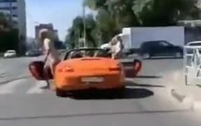 When A Car Stops At A Crosswalk