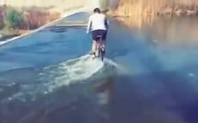 A Cyclist Being A Stupid Man