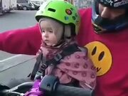 When A Little Girl Starts The Bike