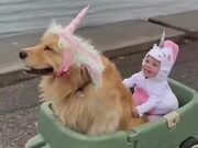Little Girl Living Her Unicorn Dream