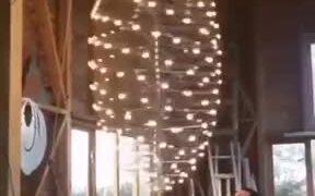 Mesmerizing Rotating Lights