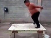 Fat Kid Exercising In Lockdown