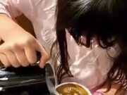 9-Year-Old Girl With Amazing Coffee Art Skills