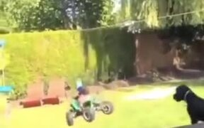 Little Girl Doing Perfect Slip-On ATV