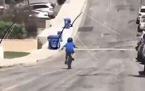 Garbage Cans Fishing For Humans On The Road