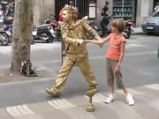 The Amazing Human Golden Statue