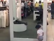 Baby Trying To Figure Out How A Mirror Work
