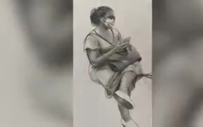 Mind-Blowing Pencil Art In Subway
