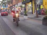 Crazy Biker Santa