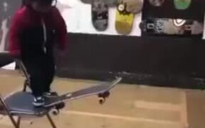 World's Youngest Skateboarder Doing Stunts
