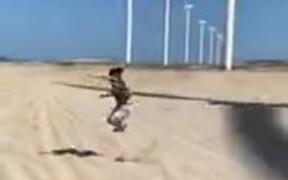 Man Shadow Jumping